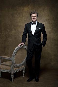 Galán clásico. Colin Firth, 54 años, de riguroso esmoquin, en su eterna imagen impecable.