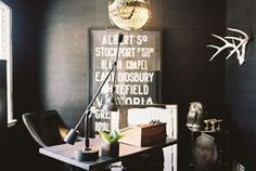 Work Space design ideas and photos to inspire your next home decor project or remodel. Check out Work Space photo galleries full of ideas for your home, apartment or office. Black And White Office, Black White, Cool Office, Office Decor, Future Office, Workspace Inspiration, Interior Inspiration, Decoracion Vintage Chic, Space Photos