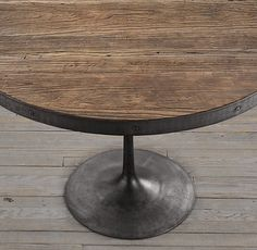 60 inch round table from restoration hardware.