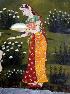 -- Indian Miniature Painting Fragment of Aurangabad Ragamala -- Circa 1650 Mughal Paintings, Indian Art Paintings, Mini Paintings, Miniature Paintings, Art Indien, India Painting, Jaisalmer, Udaipur, Madhubani Art