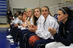 Women's Hoops resting before the contests at Three Point Contest, 2013 Jaguar, Pep Rally, Slam Dunk, Hot Shots, Live Music, The Man, Madness