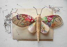 vintage fabric butterflies