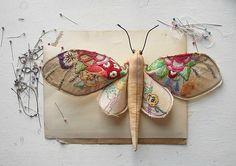 vintage fabric butterflies