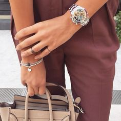 chic down to the accessories