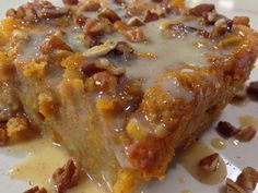 Sweet Potato Bread Pudding with Vanilla Cream Sauce