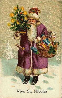 Vintage Christmas/Santa Claus Postcard by jopatte4952