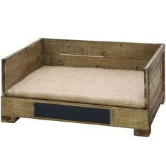 "WANT IT :: Woodland Imports Pet Bed Box - 69244 :: $139.31 (free ship) | store.123greetings.com :: [14""h x 22""w x 30""d; 20.37 lbs.] Wood. For small pets 11- 25 lbs. (also @ wayfair.com for 131.97) :: What a cute pet bed! I love the chalkboard label so you can personalize w/ your pet's name! This could probably be made for a fraction of the cost, but it's still cute! (And it's square so my cat would actually sleep in it--she has a bizarre aversion to round beds...) 