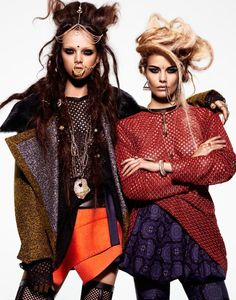 Black Book Magazine - Midnight's Children (with models Jenna Earle, Alena Blohm)