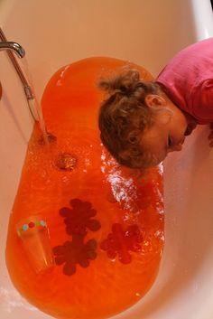 bath tub sensory fun!