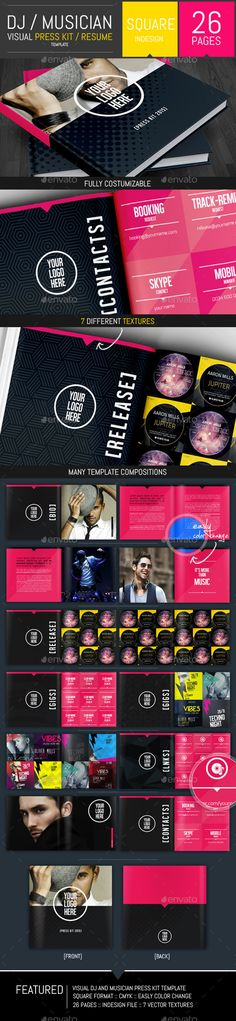 Musicians Resume Template Gorgeous Dj And Musician Press Kit  Resume Template  Pinterest  Press Kits .