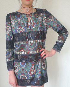 funky printed dress £20