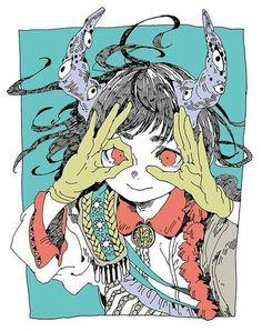 Creapy or cute? Cartoon Kunst, Cartoon Art, Pretty Art, Cute Art, Manga Art, Anime Art, Japon Illustration, Circus Illustration, Arte Obscura