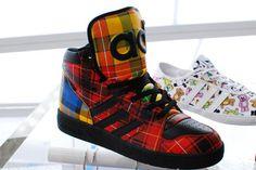 """adidas Originals x Jeremy Scott Instinct Hi """"Plaid Print"""""""