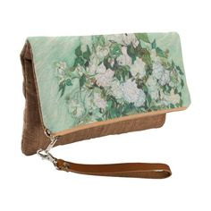 Van Gogh Vase with Pink Roses Vintage Floral Art Clutch ($56) ❤ liked on Polyvore featuring home, home decor, floral home decor, rose home decor, canvas home decor, pink home decor and spring home decor