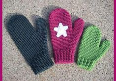 [Free Pattern] Quick And Easy Crochet Mittens For Women And Kids