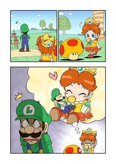 Good idea by i-junnosuke on DeviantArt Super Mario Kunst, Super Mario And Luigi, Mario Run, Super Mario Art, Mario Bros., Mario Kart, Metroid, Creepypasta Anime, Mario Comics