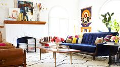 "Living room of designer Emily Henderson, from ""This is Happening: Mexican Modernism"""