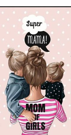Mother Daughter Art, Mother Art, Mother Mother, Baby Girl Drawing, Bff Drawings, Baby Wallpaper, Wallpaper Quotes, Super Mom, Mom Quotes