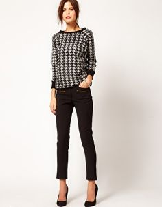 Warehouse Zippy Skinny Trouser