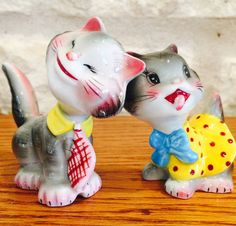 RARE Vintage PY Norcrest Napco Silly Kitty Cat by BobsGoodJunk