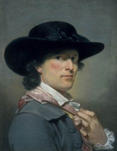 Archibald Skirving, Self-portrait, 1790. He  was a Scottish portrait painter born 1749 at Athelstaneford near Haddington, UK; and died 1819, at Inveresk Lodge Garden, United Kingdom