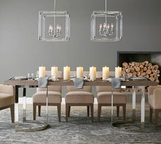 Durham Reclaimed Wood Fixed Dining Table | Pottery Barn