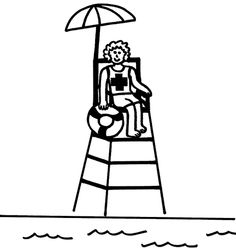 coloring pages of lifeguard stand - photo#6