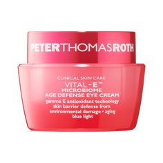 Shop Peter Thomas Roth's Vital-E™ Microbiome Age Defense Eye Cream at Sephora. This eye cream helps nourish the skin barrier and support its natural microbiome. Dry Skincare, Skin Care Clinic, Anti Aging Eye Cream, Peter Thomas Roth, Moisturizing Shampoo, Makeup Geek, Sephora, The Balm, Age