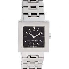 Bvlgari Quadrato sq22ss - Bvlgari - Ladies Bvlgari Quadrato in stainless steel. Quartz. Ref sq22ss. Fine Pre-owned Bvlgari / Bulgari Watch.- Fine Luxury Watches