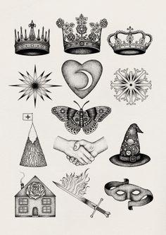 Astrology Print by Bradley Jay, via Behance