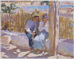 mer Idylle , huile sur toile de Joaquin Sorolla Y Bastida Spain) Spanish Painters, Spanish Artists, English Artists, Claude Monet, Comics Illustration, Illustrations, Art Database, Oil Painting Reproductions, Kandinsky