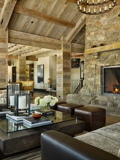 Dramatic Hearth - ELLEDecor.com