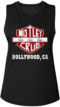 d1c2bc749 Our women's Motley Crue sleeveless fashion t-shirt spotlights a version of  the band's logo