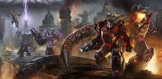 Transformers Optimus Prime and Grimlock wallpaper. Transformers Decepticons, Transformers Optimus Prime, Cinematic Trailer, Fall Wallpaper, Laptop Wallpaper, Desktop Wallpapers, Gi Joe, Game Art, Star Wars