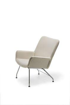 Yrjo Kukkapuro; Chromed Metal 'Moderno' Lounge Chair for Lepoproduct Oy, 1959.