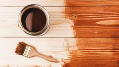Picking the right wood stain means considering, the type of wood, lighting, and the number of coats. Wood Stain Colors, Oak Stain, Paint Colors, Wood Refinishing, White Spirit, Water Based Stain, Types Of Lighting, Light Oak, Weathered Wood