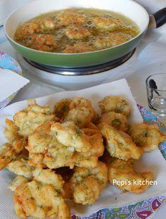 Greek Cooking, Fish Dishes, Greek Recipes, Fish And Seafood, Potato Salad, Cauliflower, Shrimp, Yummy Food, Tasty