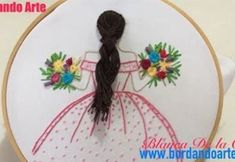 Love this ♥Matina Hand Embroidery Videos, Hand Embroidery Tutorial, Hand Embroidery Stitches, Silk Ribbon Embroidery, Hand Embroidery Designs, Embroidery Techniques, Embroidery Art, Broderie Simple, Crochet Flower Patterns