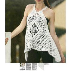 Crochet boho tunic PATTERN detailed by OnlyFavoritePATTERNs