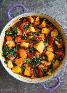 Roasted Root Vegetables with Tomatoes and Kale! A ragout of roasted root vegetables—parsnips, carrots, beets, rutabagas—with tomatoes and kale No Toms this time of year for us but we'll let you use tinned. Soup Recipes, Whole Food Recipes, Cooking Recipes, Healthy Recipes, Beet Recipes, Recipes Dinner, Rutabaga Recipes, Healthy Soups, Healthy Lentil Soup