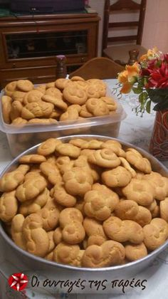 Easter Projects, Greek Recipes, Cookie Recipes, Biscuits, Almond, Food And Drink, Cookies, Sweets, Breakfast