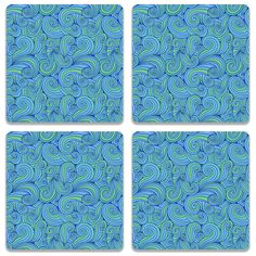 All new product Hand Drawn Blue W... Check out http://www.colorpur.com/products/hand-drawn-blue-waves-coaster-set-of-4-artist-abhinav?utm_campaign=social_autopilot&utm_source=pin&utm_medium=pin