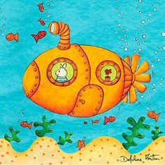 Cuadro infantil Submarino amarillo de Lilipinso.