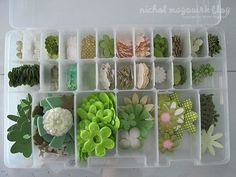 floral embellishment storage in Plano Clear Storage Boxes