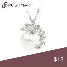 Ms Pearl [Newly Listed] White Gold Plated 2.1 x1.85cm Faux Pearl w/flower cluster paving. Matching duo into set [Pearl Vinties]. One available, nice necklace for an uptown gal.  .Ask About Custom Bundles.  .Poshmark Rules Only. No Trades.  .Additional Pics Available as Time Allows. goodchic  Jewelry Necklaces