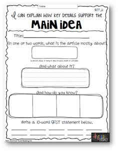 math worksheet : 1000 images about main idea on pinterest  main idea teaching  : Main Idea Worksheets For Kindergarten
