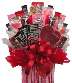 USA Candy Bouquet - Sweetheart Box Bouquet