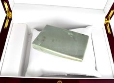 Lot: APP: 11.1k 1,115.00CT Rectangle Cut Green Jade Gemstone, Lot Number: 0372, Starting Bid: $2, Auctioneer: GovernmentAuction, Auction: Government Special Asset Sale Antiques