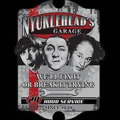the stooges t-shirt NYUKLEHEAD'S GARAGE movie funny three