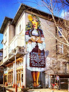 Street art in Sofia, Bulgaria. Street Art is a very popular form of art that … Street Art Banksy, Street Mural, Graffiti Murals, Mural Art, Painting The Roses Red, Beautiful Streets, New York Street, Art Studies, Land Art